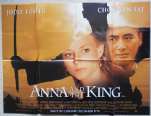 Anna and the King, Original UK Quad Poster, Jodie Foster, Chow Yun Fat, '99